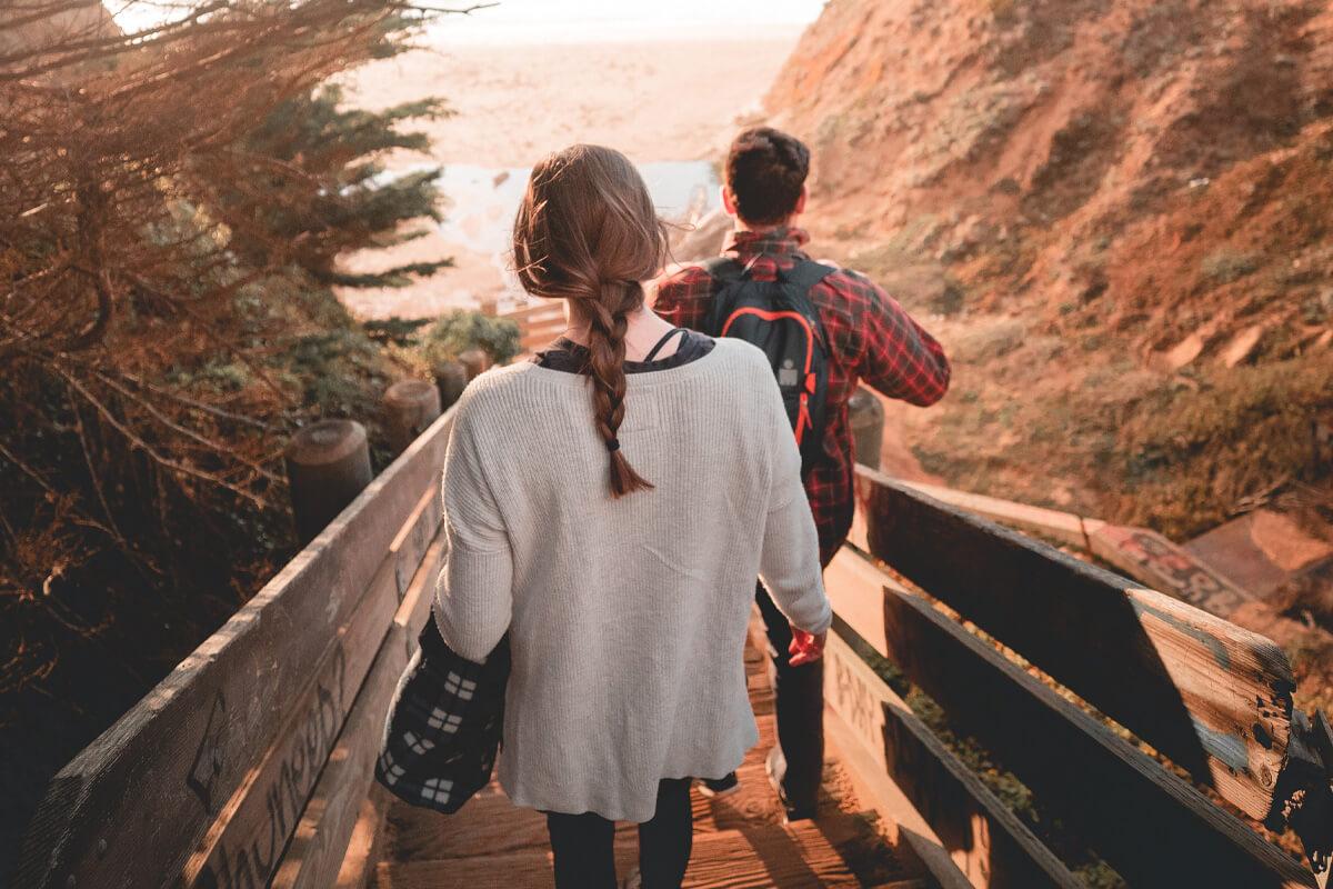 ściżka, góry, droga, para, od czego zacząć rozwój osobisty