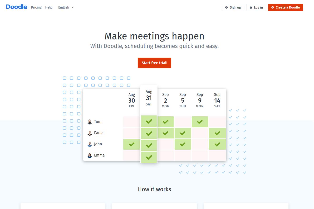 doodle, czyli jak podnieść efektywność w planowaniu
